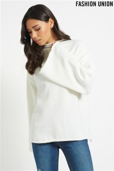 Fashion Union Funnel Sleeve Jumper