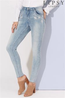 Lipsy Embroidered Skinny Jeans