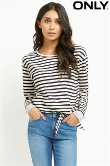 Only Striped Sweat Top