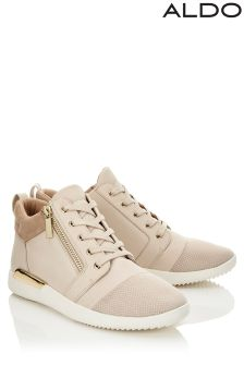 Aldo Round Toe High Top Trainers