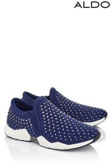 Aldo Gem Embellished Slip On Trainers