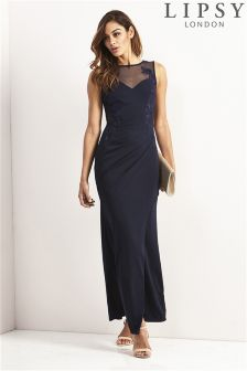 Lipsy Petite Side Placement Embroidery Maxi Dress