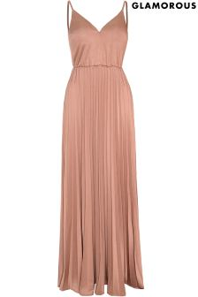 Glamorous Pleated Maxi Dress