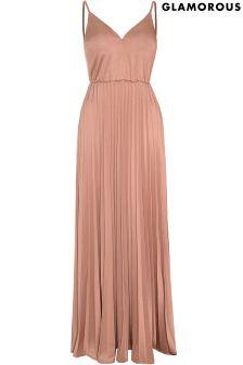 Glamorous Pleated Maxi Dress