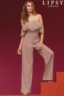Lipsy Bardot Ruffle Jumpsuit