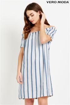 Vero Moda Stripe Off The Shoulder Dress