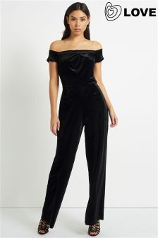 Love Velvet Cold Shoulder Jumpsuit