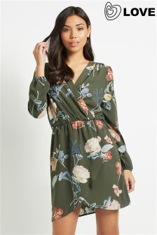 Love Floral Wrap Dress