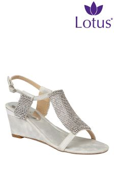 Lotus Wedge Sandals