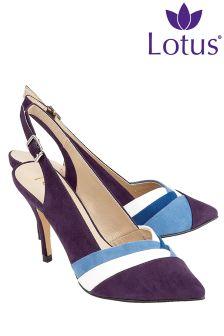 Lotus Sling Back Court Shoes