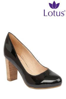 Lotus Block Heel Court Shoes