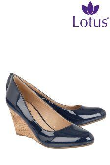 Lotus Cork Effect Wedge Shoe