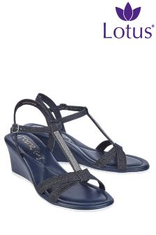 Lotus High Wedge Sandals