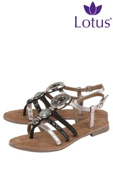 Lotus Strappy Flat Sandals