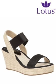 Lotus High Rope Wedge Sandals