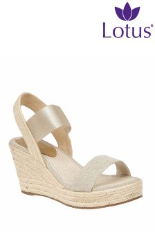 Lotus Gold Metallic Sandals