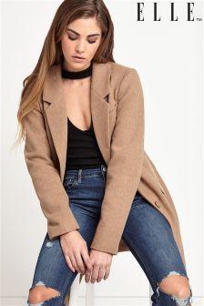 Elle Woolen Classic Boyfriend Coat