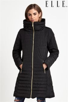 Elle Long Line Puffer Coat
