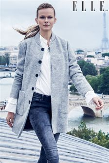 Elle Long Sleeve Button Through Coat