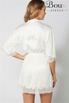 Boux Avenue Mrs Bridal Satin Robe