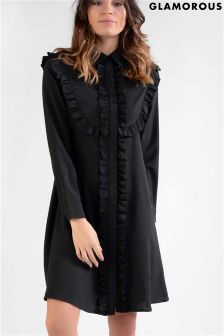 Glamorous Frill Front Shirt Dress