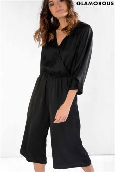 Glamorous Wrap Over Jumpsuit