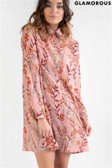 Glamorous Printed Shirt Dress