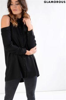 Glamorous Cold Shoulder Soft Shirt