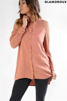 Glamorous Cold Shoulder Soft Shirt