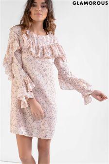 Glamorous Ruffle Shift Dress