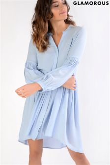 Glamorous Long Textured Shirt Dress