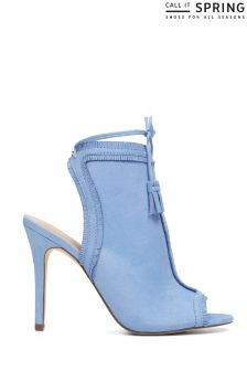 Call It Spring Fringed Peep Toe Heels