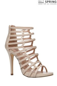 Call It Spring Caged Open Toe Heels