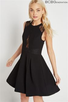 BCBGeneration Lace Insert Skater Dress