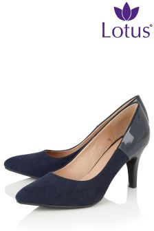 Lotus Heeled Court Shoe