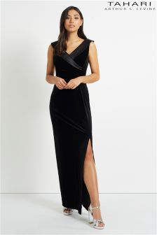 Tahari Velvet Maxi Dress