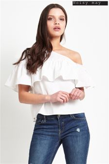 Noisy May One Shoulder Ruffle Top