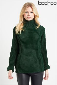 Boohoo Chunky Knit Turtle Neck Jumper