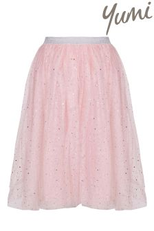 Yumi Girl Embellished Sparkle Tutu Skirt