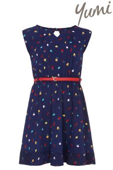 Yumi Girl Fruity Belted Dress
