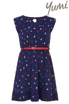 Yumi Girl Fruity Belted Dress