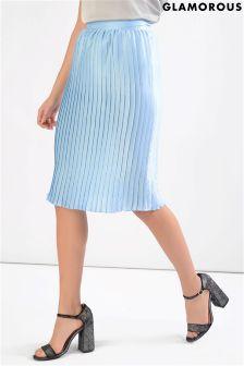 Glamorous Petite Pleated Midi Skirt