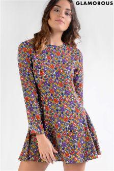 Glamorous Petite Printed Skater Dress