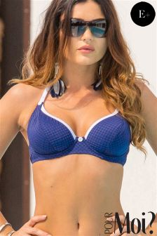 Pour Moi Halter Triangle Underwired Bikini Top E+