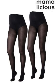 Mamalicious 2 pack Maternity Pantyhose Tights
