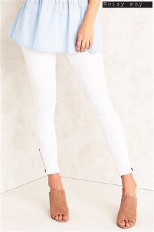 Noisy May Ankle Zip Jeans
