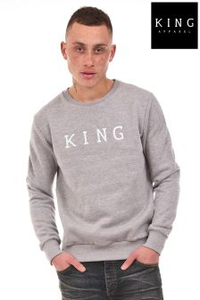 King Staple Crew Embroidered Sweater