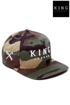 King Camo Snapback Hat