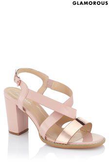 Glamorous Metallic Strap Sandal