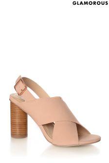 Glamorous Cylinder Heel Sandals
